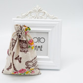 "25 Jewelry Gift Pouch 4x5.5"" Cotton Bags Eiffel Tower"