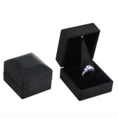LED Jewelry Box for Ring Black