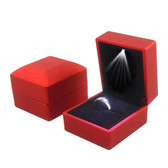 LED Jewelry Box for Ring Red