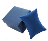 10 Watch Bracelet Display Pillow Blue Velour 3x3.5""
