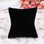 "10 Watch Bracelet Display Pillow 3.5"" x 3.75"" Black Velour"