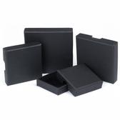 """Shipping Friendly Thin Box 2 3/4"""" x 2 3/4"""" x 5/8""""H Black Linen"""