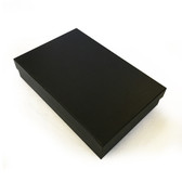 "12 Large Jewellery Box 9"" x 6"" x 2""H Black Linen"