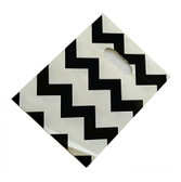 "100 Plastic Retail Jewelry Gift Shopping Bags 6X8"" Chevron Black"