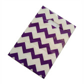 "100 Plastic Retail Jewelry Gift Shopping Bags 6X8"" Chevron Purple"