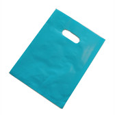 "100 Plastic Retail Jewelry Gift Shopping Bags 6X8"" Light Blue"