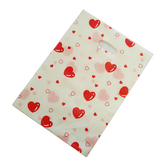 "100 Plastic Retail Store Shopping Bags Handle Slot 10X13"" Hearts"