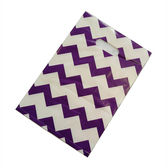 "50 Plastic Retail Jewelry Gift Shopping Bags 8X12"" Chevron Purple"