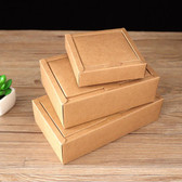 "10 Kraft 2-Piece Paper Folding Box 3.25"" x 3.25"" x 1"" H (8.5*8.5*3cm)"