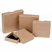 "Shipping Friendly Thin Box 3 1/2"" x 3 1/2"" x 5/8""H Kraft"