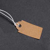 "1000 Tie-On String Price Label Paper Tag 1"" Kraft"