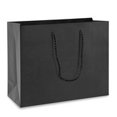 "20 Gift Shopping Tote Bag 17 x 5 x 12.5"" (43*14*32 cm) Black"