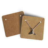 200 Paper Jewelry Card for Pendant Earring Kraft