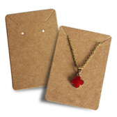 200 Paper Jewelry Card  for Necklace Earring Set Kraft
