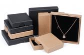 """Custom Print Canada Post Friendly Box 3 1/2""""x3 1/2""""x 5/8"""" (Black Insert)"""