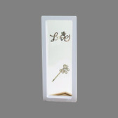 "Suspension 3D Display Jewelry Gift Box 9"" x 3 1/2"" White"
