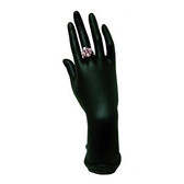 "Hand Up Form Ring Bracelet Chain Display Black 11""H"