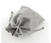 """Burlap Bag Gift Pouch 4"""" x 5 1/2"""" Ash"""
