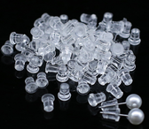 100 Earring Stopper Ear Stud Nut Backings (7x5mm)