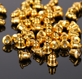 100 Metal Ear Backs Barrel Bullet Stoppes Gold