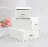 Leatherette Jewellery Drawer Boxes White