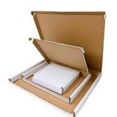 "Corrugated Shipping Friendly Slot Lettermail Box 3 1/2 x3 1/2 x 5/8""H (9*9*1.7cm)"