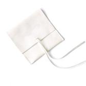 """Deluxe Microfiber Velvet Jewelry Pouch 3x3"""" White"""