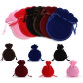 "100 Velour Drawstring Pouch Bag 3.5""X 4.75"" (9*12cm)"