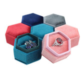 Luxury Velvet Ring Box Hexagon(50*50*48mm)