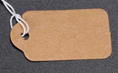 "Tie-On String Price Label Paper Tag 1.5"" Kraft"