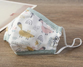 Reusable Cotton Washable Kids Face Mask Individual Sealed Squirrel