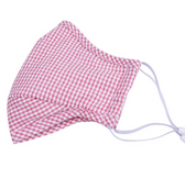 Cotton Adult Face Mask Washable Individual Sealed Pink Checkers