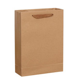 "50 Kraft Paper Shopper Shopping  Bag 8x4x11"" (20*10*28cm)"