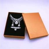 "12 Large Jewelry Box 6"" x 8.25"" x 1.5""H Crocodile Gold"