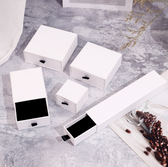Jewelry Slide Drawer Box Matte White
