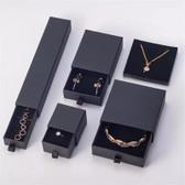 Logo Print Jewelry Slide Drawer Box Black