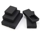 Fold-and-Tuck Slider Drawer Box 10 Sizes BLACK