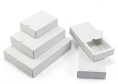 Fold-and-Tuck Slider Drawer Box 10 Sizes WHITE