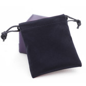 "Velvet Bag Gift Pouch 6"" X 7.75"" BLACK"