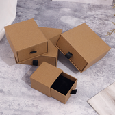 Jewellery Slide Drawer Box Kraft