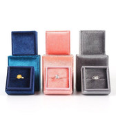 Large Luxury Velvet Ring Box Square (56*56*56mm)