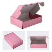 "Corrugated Shipping Mailer Box 7x4x2""H (18*11*5cm) Pink"