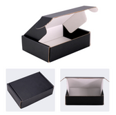 "Corrugated Shipping Mailer Box 6x3x1""H (16*8*3cm) Black"