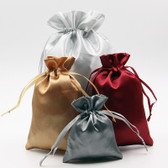 "100 Satin Drawstring Bag Gift Pouch 3.75"" X 4.5"""