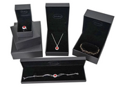 Faux Leather Jewelry Gift Boxes Black