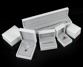 Faux Leather Jewelry Gift Boxes White
