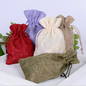 "Assorted 50 Burlap Jewelry Bag Gift Pouch 2 3/4"" x 3 1/2"""