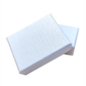 "Shipping Friendly Thin Box 2 3/4"" x 3 1/2"" x 5/8""H White Linen"