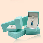 Leatherette Jewelry Box Teal Blue