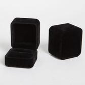 10pcs Black Velvet Ring Box (Debossed) Clearance